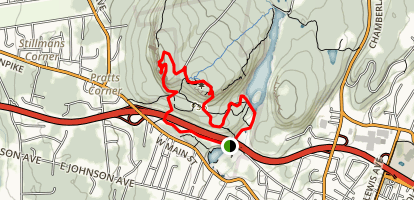 Hanging Hills: West and East Peaks Loop Map