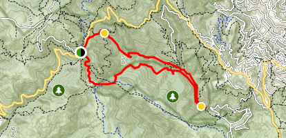 Muir Woods via the Bootjack Trail Map