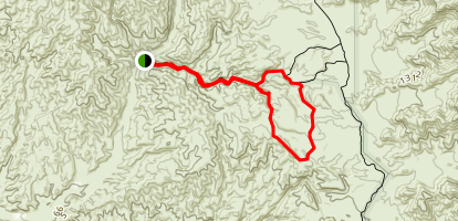 Robby's Ridge and Darwin Canyon  Map