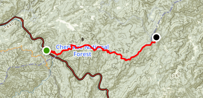 Appalachian Trail: Davenport Gap to Max Patch Map