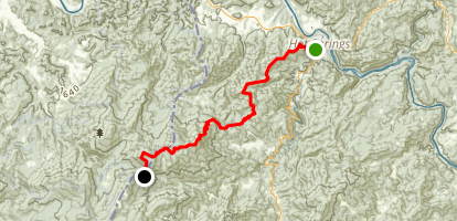 Appalachian Trail: Lemon Gap to Hot Springs Map