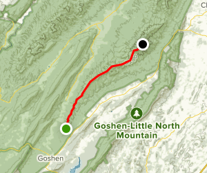 North Mountain Trail to Elliot Knob Map