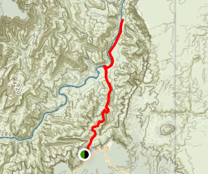 Tanner Trail to Tanner Beach and Lava Rapids Map