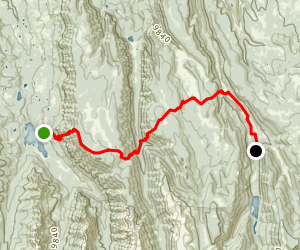 Alpine Trail to Big Blue Campground Map