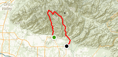 Ventana and Esperero Trail Map