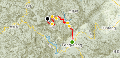 Fenghuang Mountain Trail 潮州,凤凰山,登山线路 Map