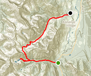 Galatea Lakes Trail to Guinn's Pass, Ribbon Creek, and Kovach Trail Map