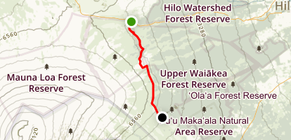 Pu'u Oo Volcano Trail Map