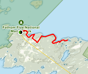 Bruce Trail to Loon Lake Map