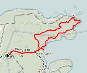 Bruce Trail - Burnt Point Loop Map