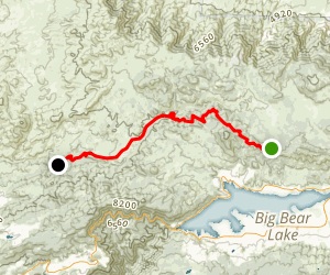 Holcomb Creek via the PCT Map