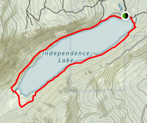 Independence Lake Loop Map