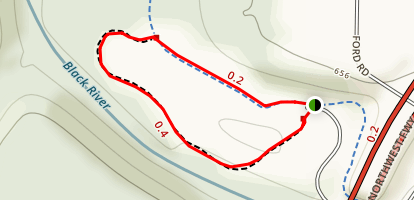 Black River Short Loop Map