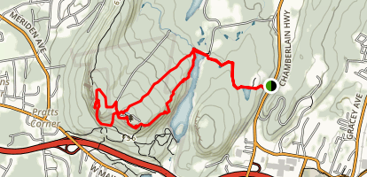 Castle Craig via Metacomet Trail Map