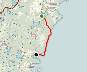 Shoal Bay Road to Spout Path Map