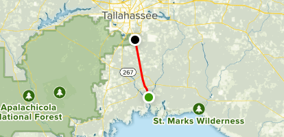 Talahassee Saint Marks Historic Rail State Trail Map