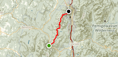 Mount Wolf and Kinsman Ridge via Appalachian Trail Map