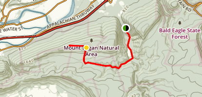Bald Eagle Mountain Map