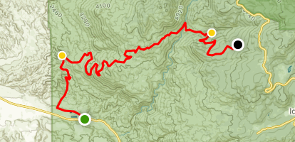 Bee Canyon to Pine Cove Road Map