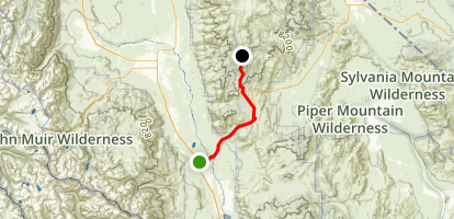 Big Pine to Schulman Grove Map