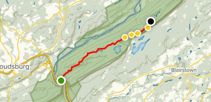 Appalachian Trail: Rattlesnake & Bird Mountains Map
