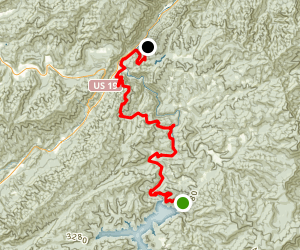 Bartram Trail: Nantahala Lake to Winding Stairs Map