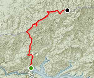 Appalachian Trail: Fontana Lake to Mount Squires Map