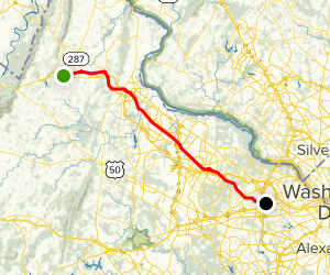 Washington & Old Dominion Trail Map