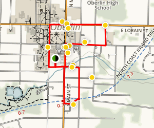 On the Trail to Freedom: The Underground Railroad in Oberlin Map