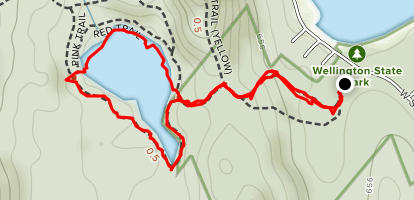 Goose Pond Trail Map