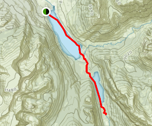 Green River Lakes Canoe Trip Map