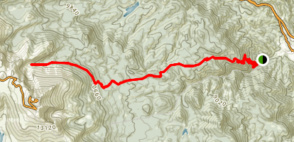 Bottomless Pit Trail via Barr Trail Map