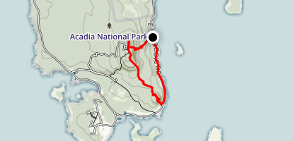 Schoodic Head Overlook and The Anvil Loop Trail Map