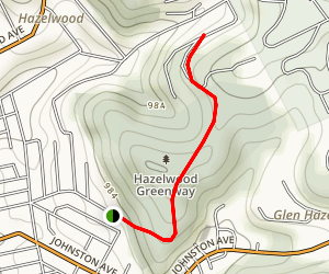 Hazelwood Greenway-Elizabeth to Kinglake Map