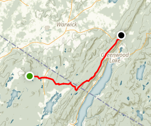 Appalachian Trail: Warwick Turnpike to Mount Peter Map