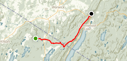 Appalachian Trail: Warwick Turnpike to Mount Peter, NY Map
