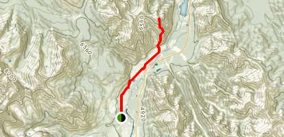 Mary Barclay's Peak via Stoney Trail Map
