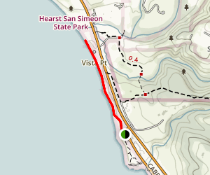 Oceano Campground to San Simeon State Beach Map