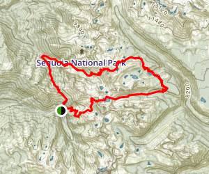 Sawtooth Pass to Timber Gap Trail Map