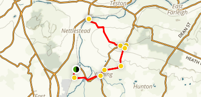 Yalding to Wateringbury Map
