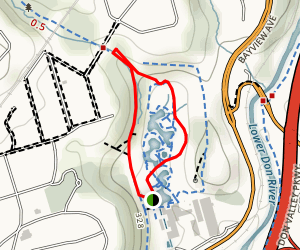 Brickworks and Moore Park Ravine Map