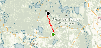 Florida Trail: Clearwater Lake to Alexander Springs Map