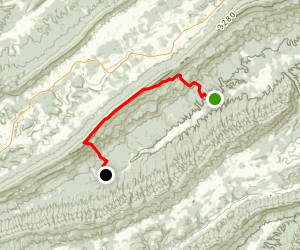 Appalachian Trail: Sinking Creek Mountain to Sarver Hollow Map