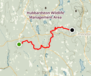 Midstate Trail Northbound- Barr Falls to Wachusett Meadows Map