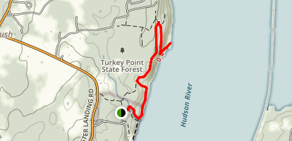 Turkey Point from Ulster Landing Map