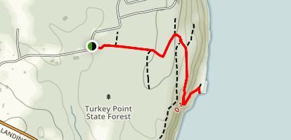 Turkey Point from Flatbush Camp Road Map