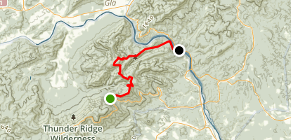 Appalachian Trail: Petites Gap to James River Map