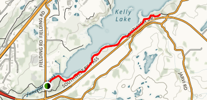 Kelly Lake Trail  Map