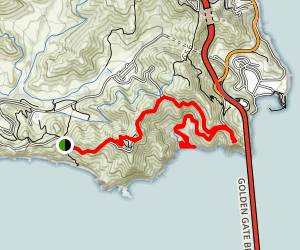 Golden Gate Gems- Hawk Hill, Kirby Cove, and Point Bonita Lighthouse Map