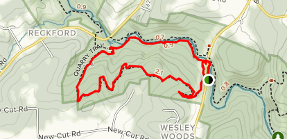 Old Quarry and Little Gunpowder Loop Map